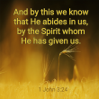 He Abides In Us